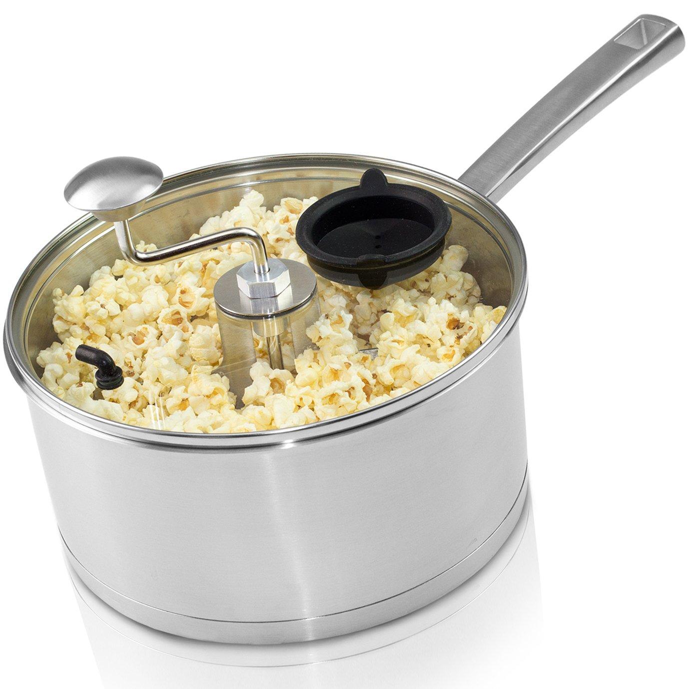 Zippy Pop & Roast Stovetop Popcorn Popper