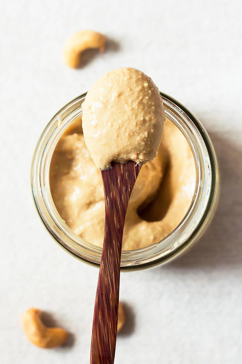 Cashew Butter on a Spoon