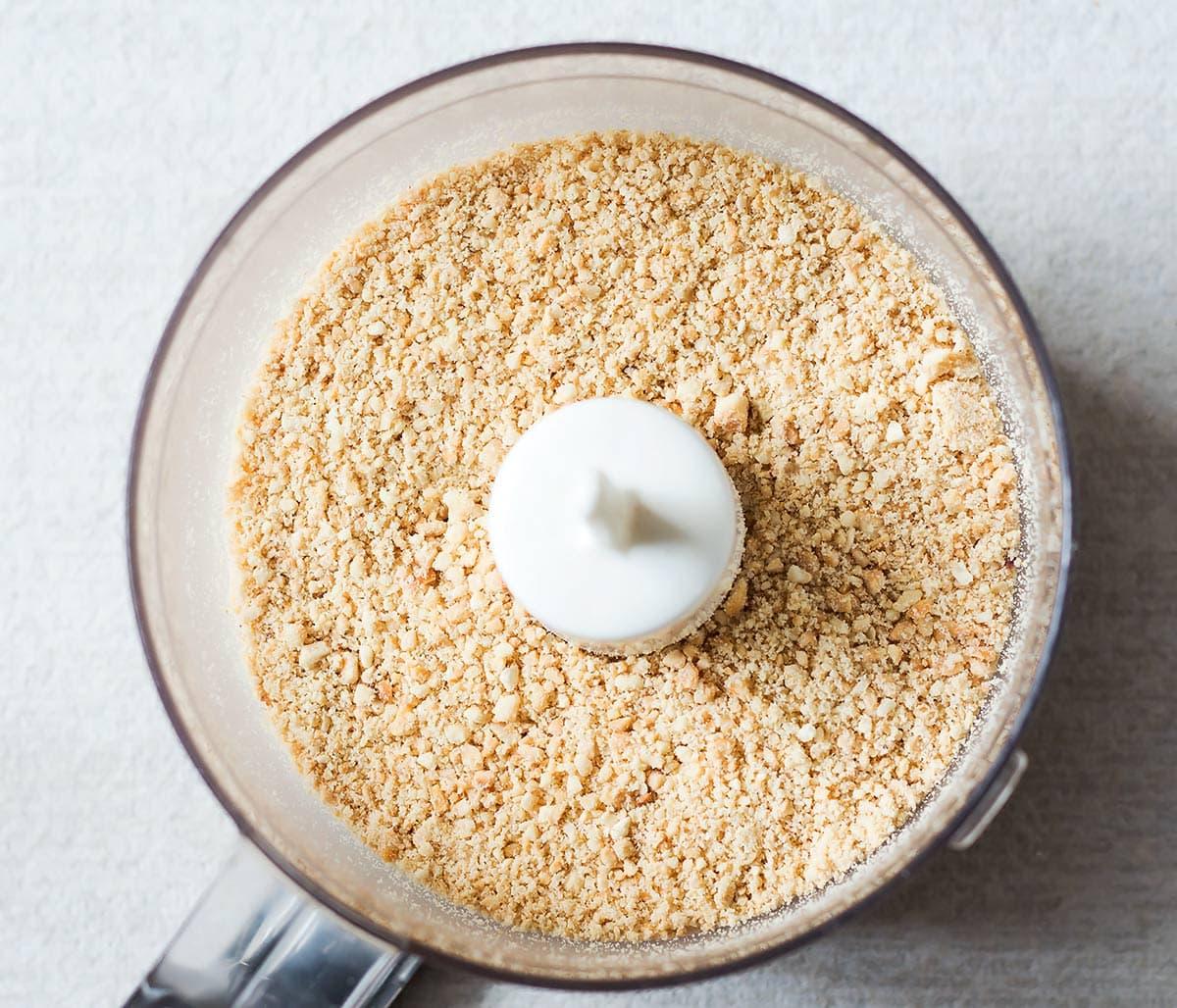 Ground cashews in food processor