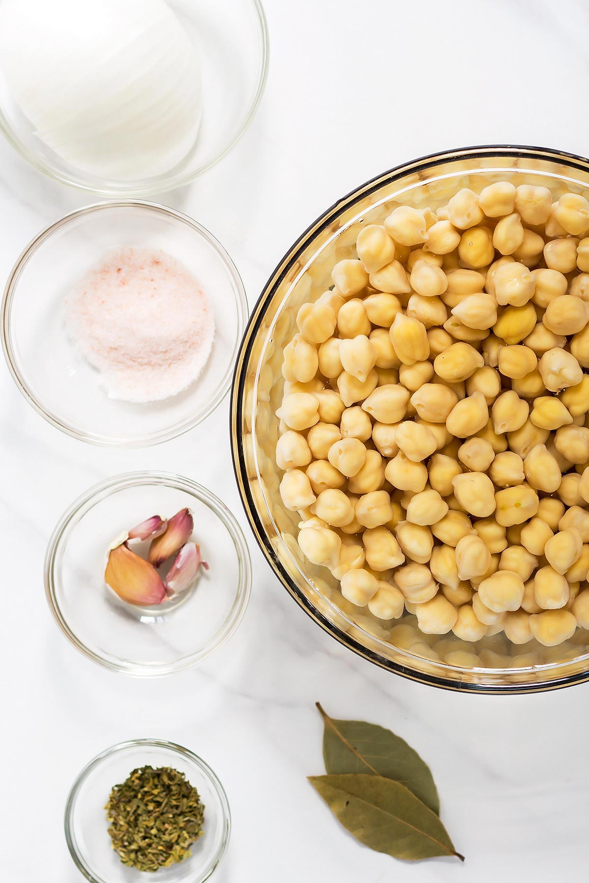 Ingredients for Pressure Cooker Chickpeas