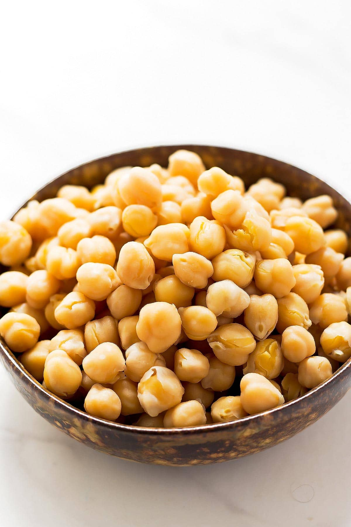 Cooked Chickpeas in bowl