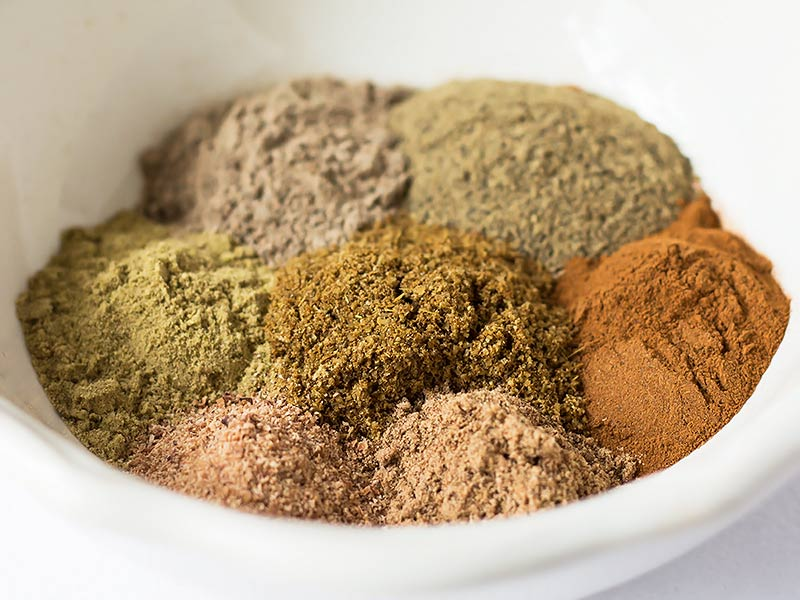 Garam Masala Ingredients measured into bowl