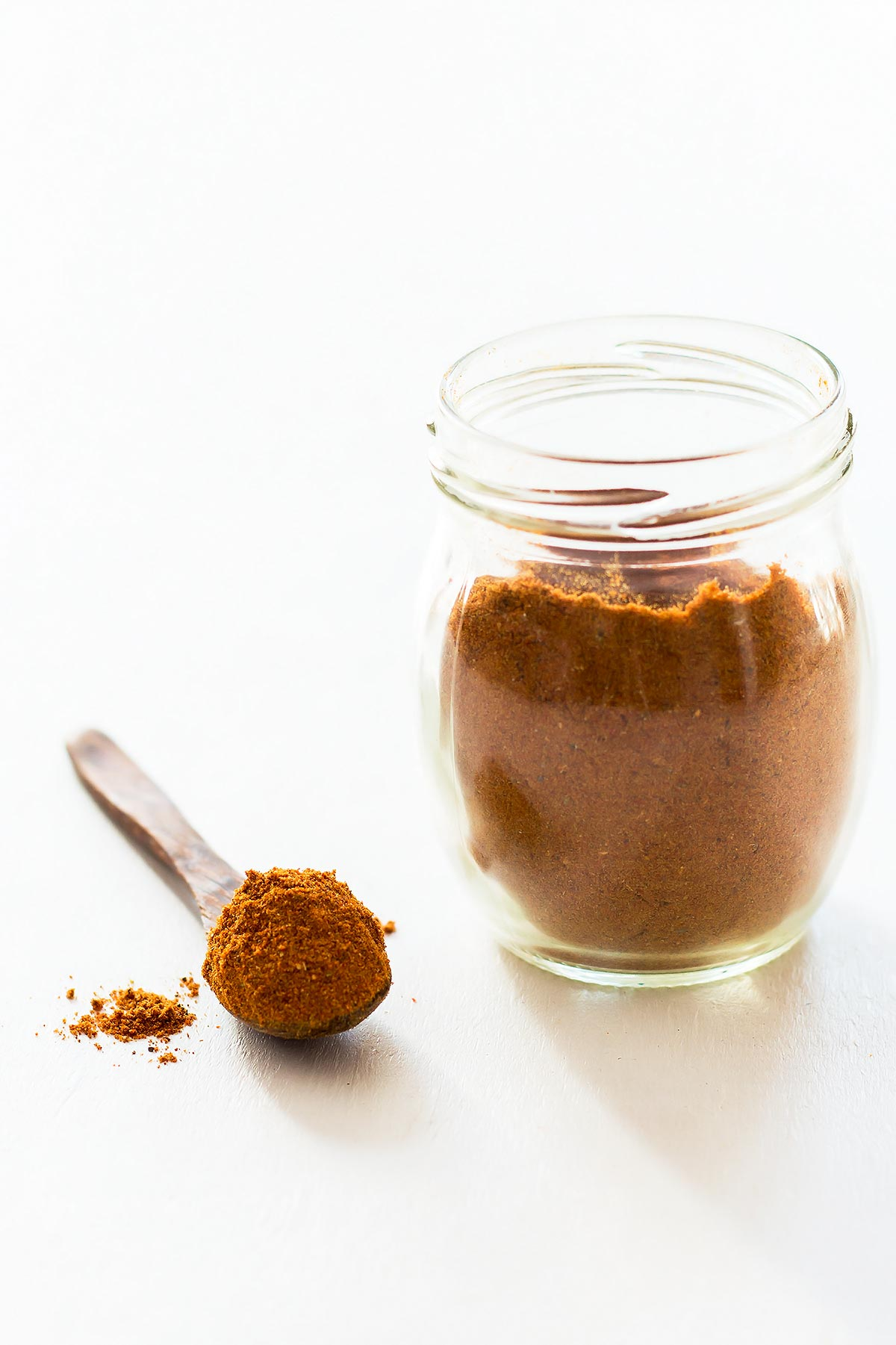 Homemade Tandoori Masala in jar and on spoon