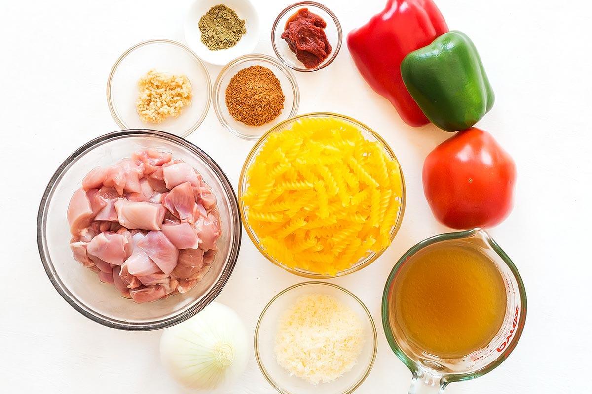 Instant Pot Cajun Chicken Pasta Ingredients