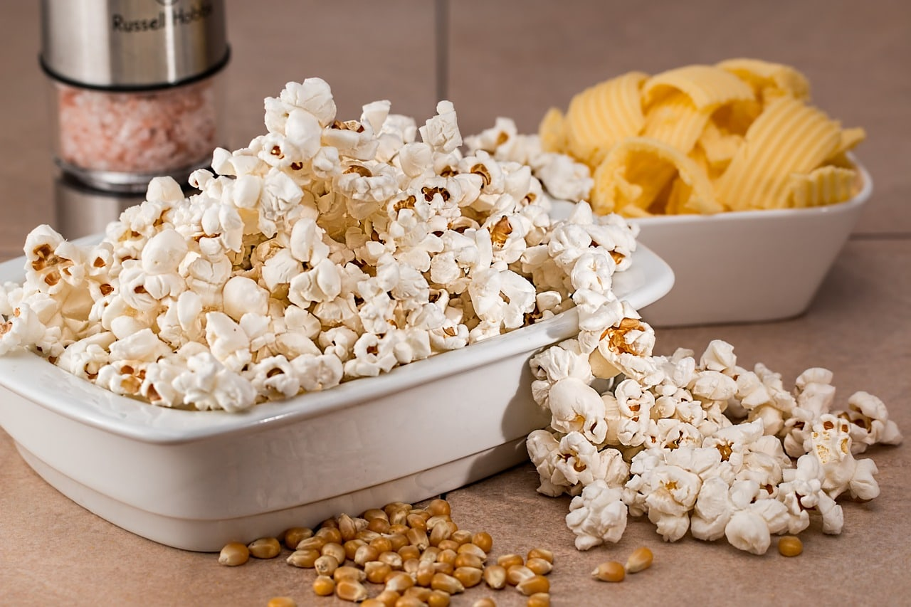 Popcorn in Long Bowl