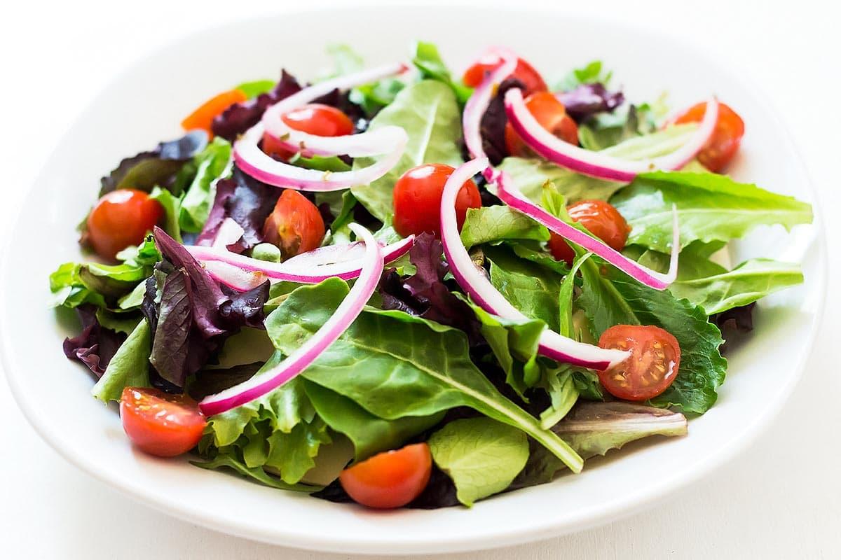 Pickled Onions on salad