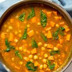 Sweet Potato and Chickpea Curry in Pan