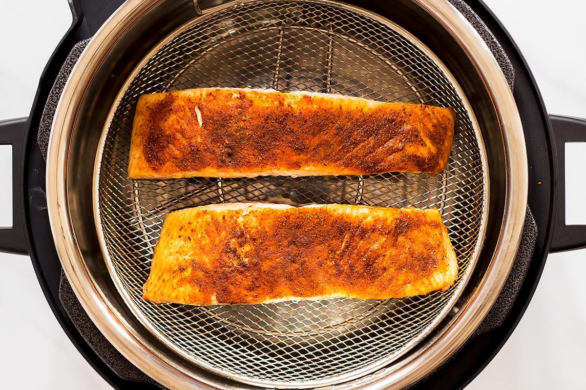 Tandoori Salmon air fried with Crisplid