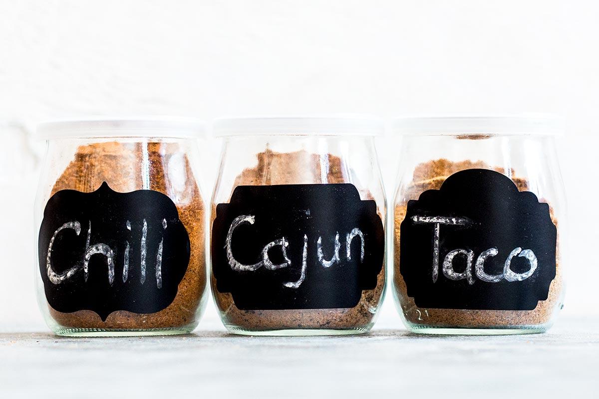 Chili, Cajun, and Taco Seasonings