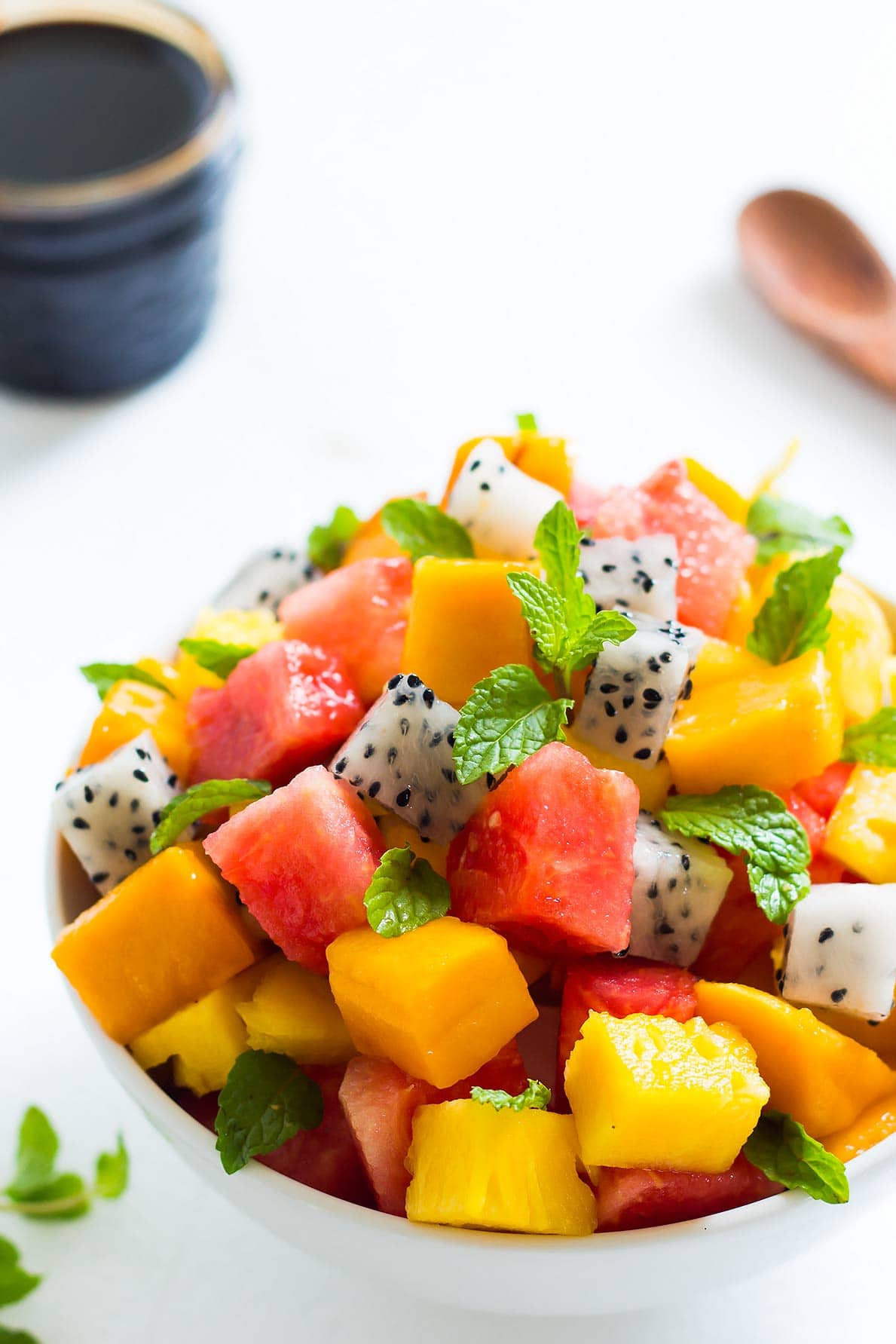 Tropical Fruit Salad in bowl