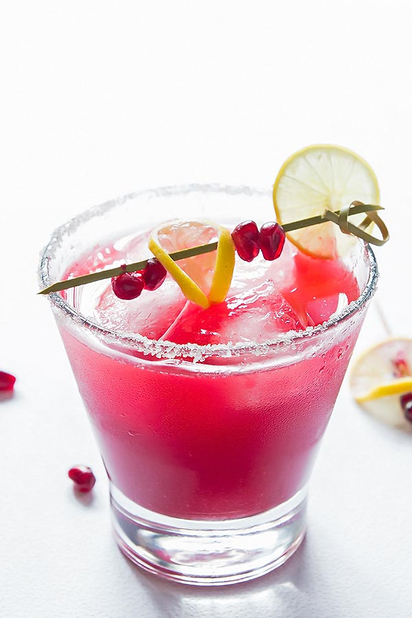 Red Pomegranate Margarita Cocktail