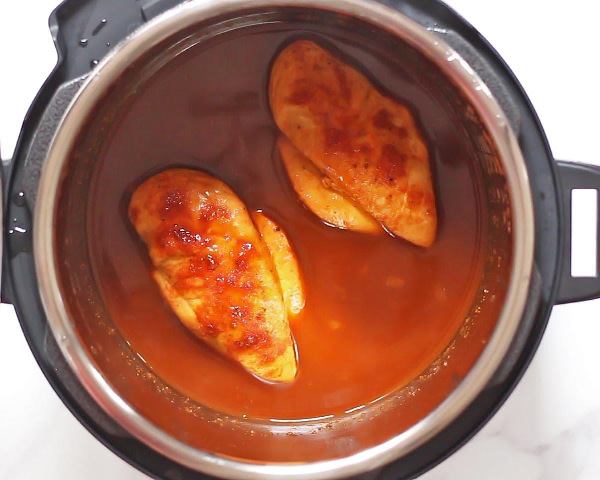 BBQ Chicken breasts in Instant Pot