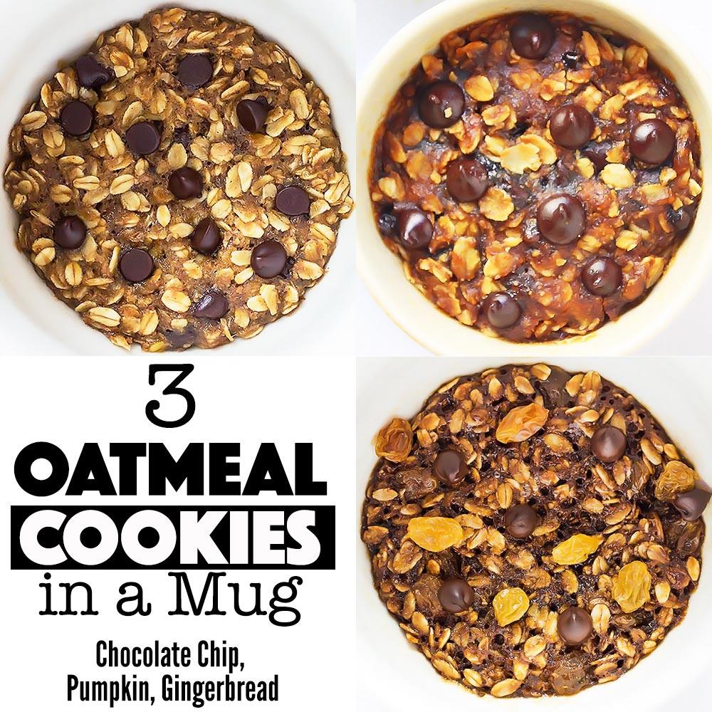 3 Mug Cookie Recipe Collage