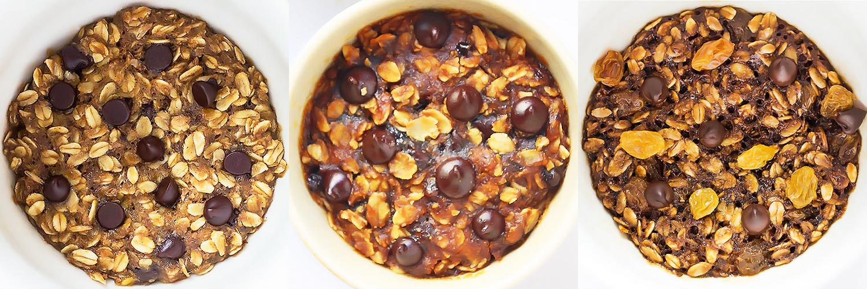 3 Oatmeal Mug Cookie Flavors