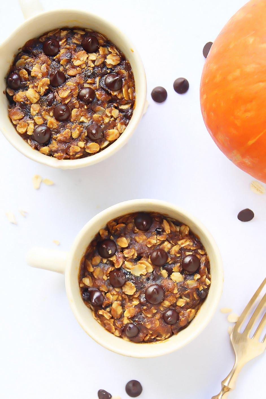 Oatmeal Pumpkin Mug Cookies