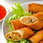 Thai Spring Rolls on plate
