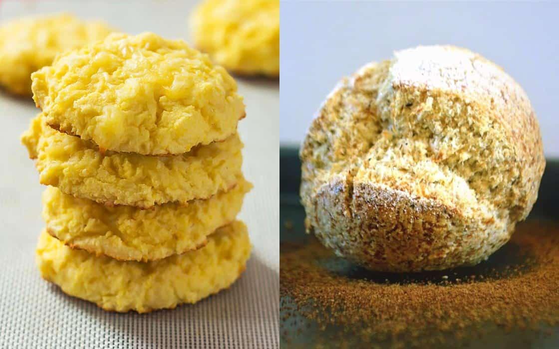 Coconut Flour Biscuits and Ciabatta Bun