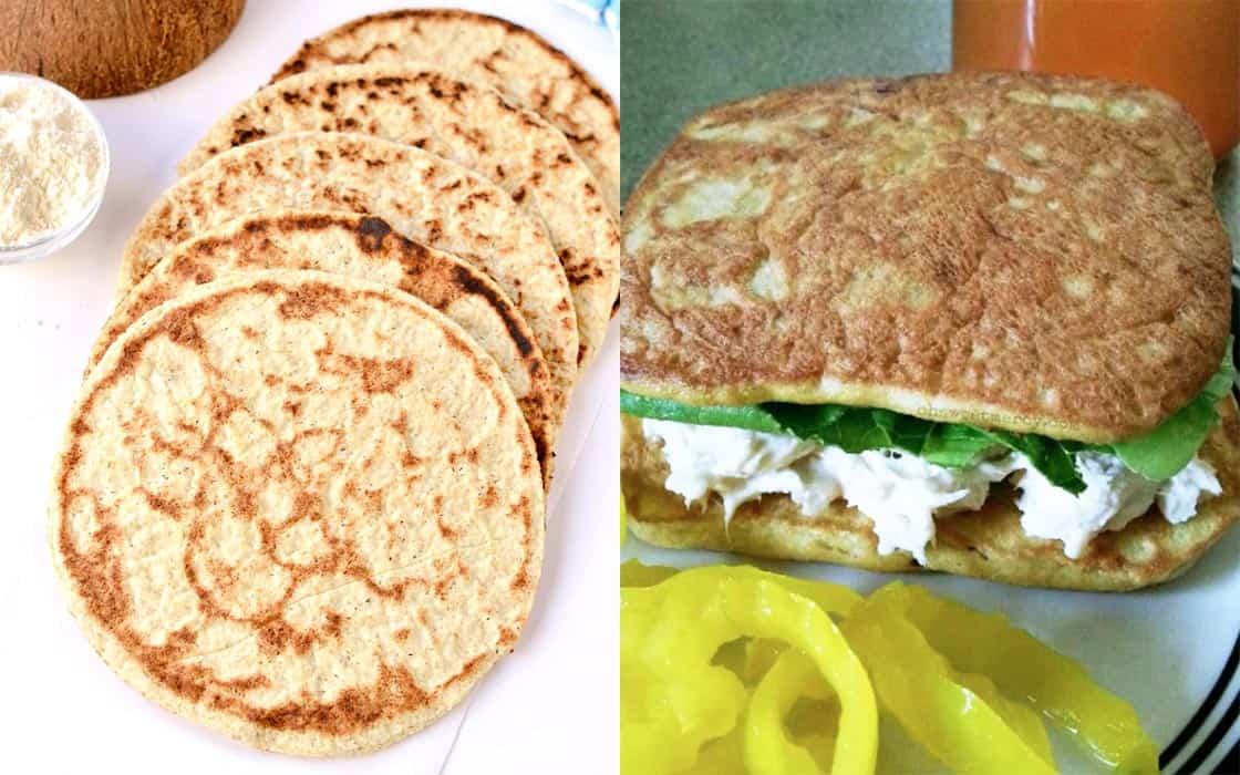 Coconut Flour Flatbread Recipes Collage