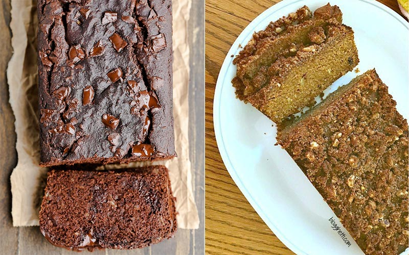 Coconut Flour Chocolate Bread and Pumpkin Breads