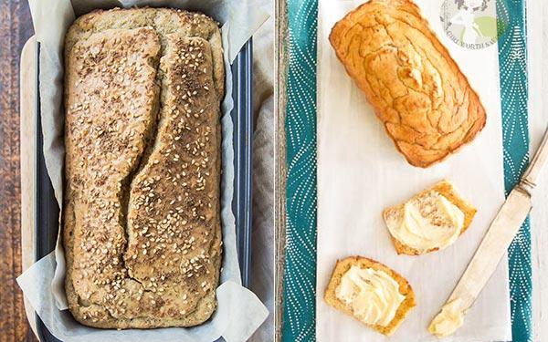 Coconut Flour Sandwich bread and corn bread