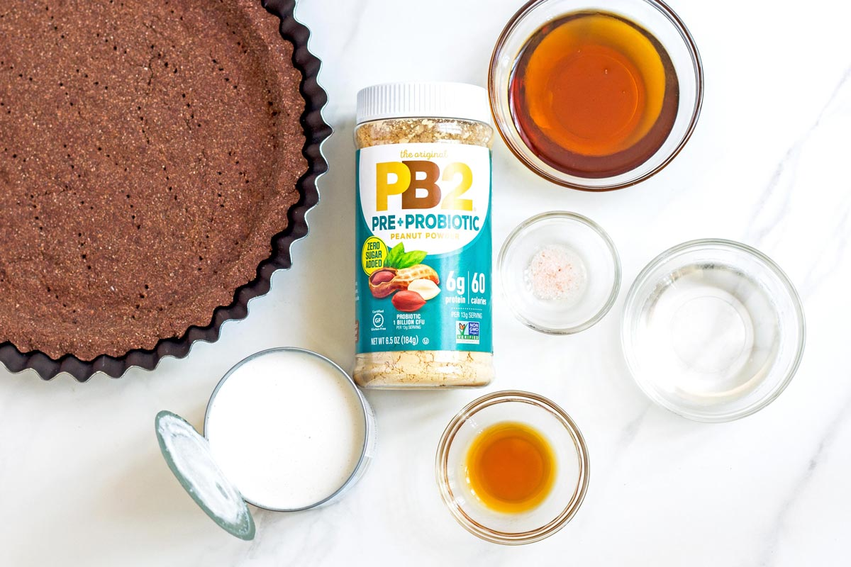 Vegan Peanut Butter Pie with Coconut Milk