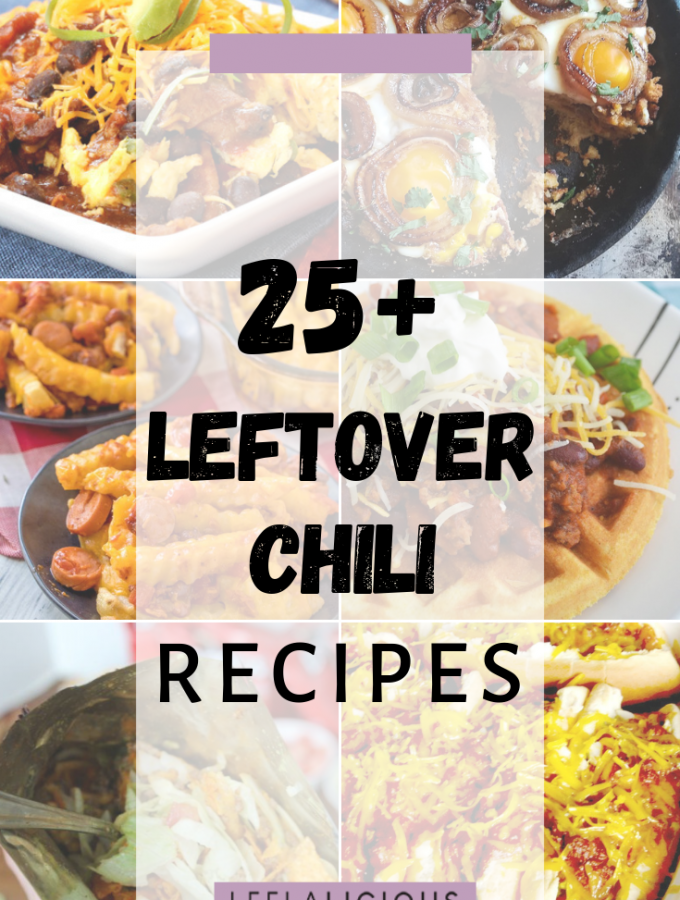 Leftover chili recipes collage