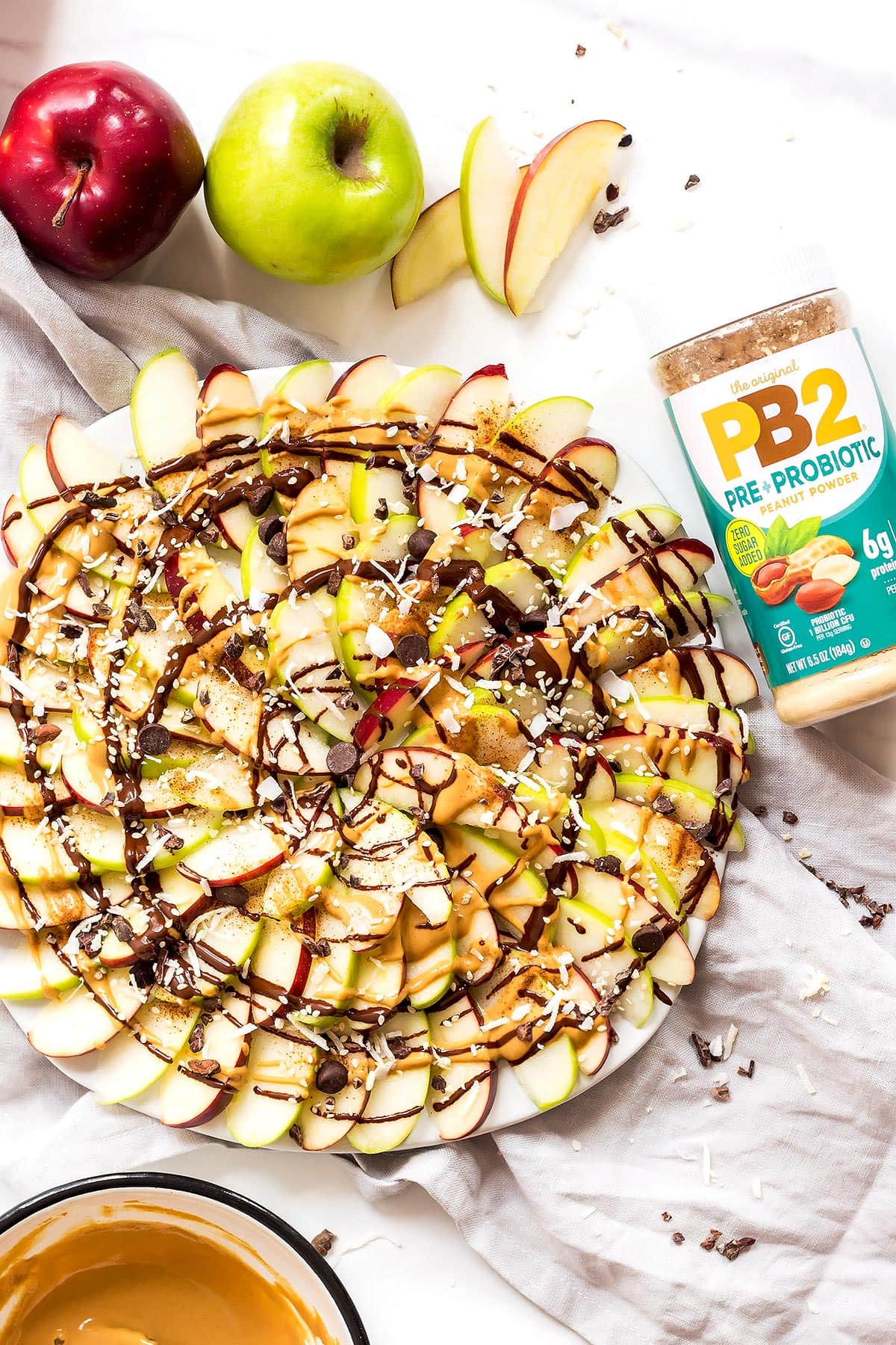 Peanut Butter Apple Nachos