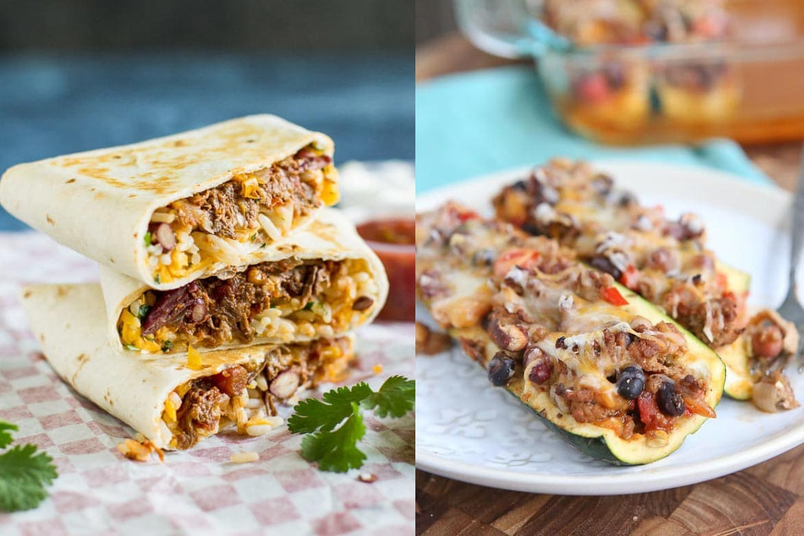 Chili Cheese Burritos and Zucchini Boats