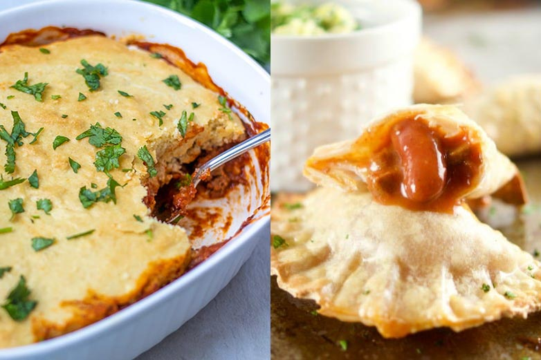 chili tamales pie and chili empanadas