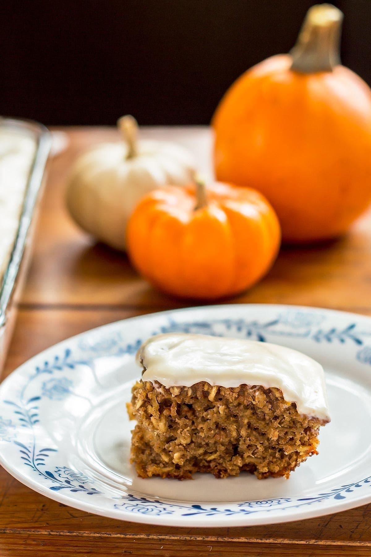 Easy Pumpkin Bar on Plate