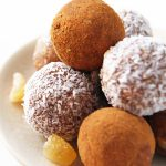 Gingerbread balls on plate