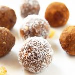 Gingerbread Energy Balls lined up