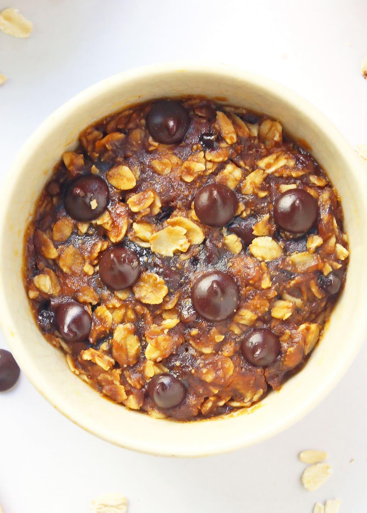 Pumpkin Spice Microwave Cookie