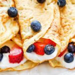 Coconut Flour Crepes with Berry filling