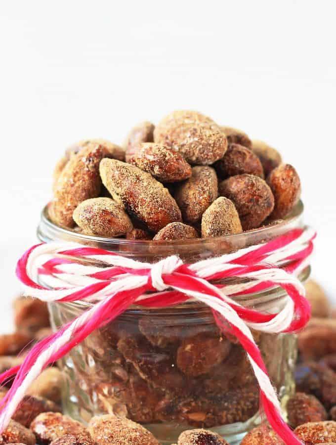Spiced Honey Roasted Almonds