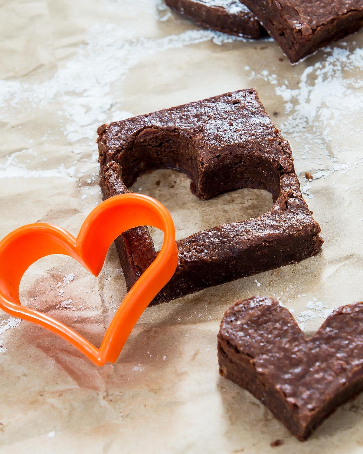 Cut out Brownie heart