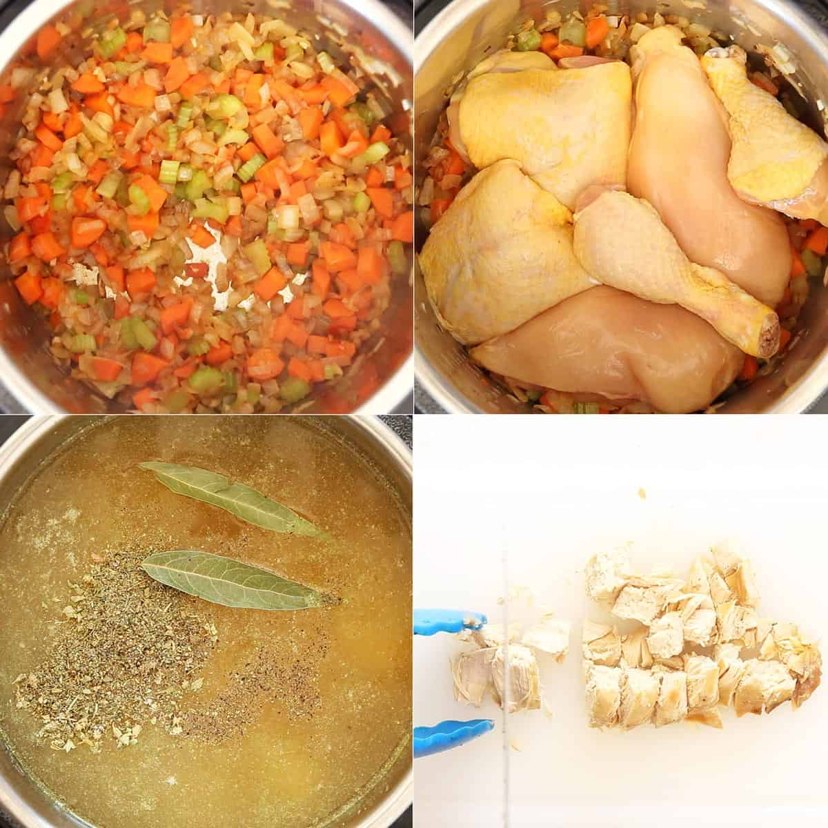 How to Make Chicken Soup Process Steps