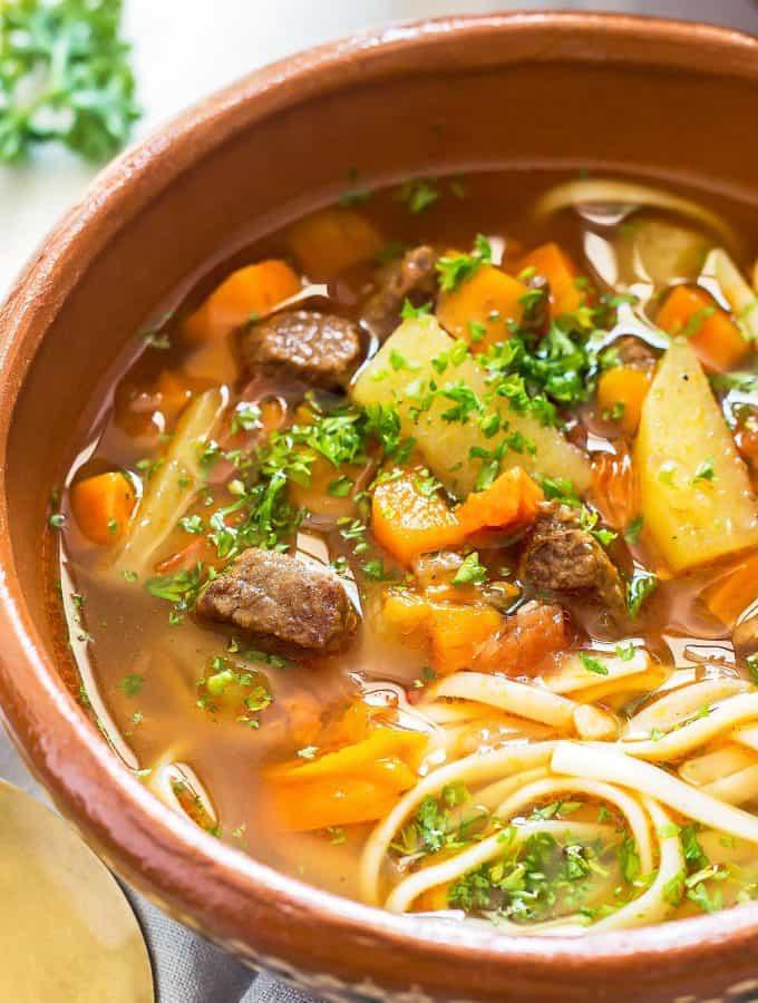Instant Pot Beef Noodle Soup