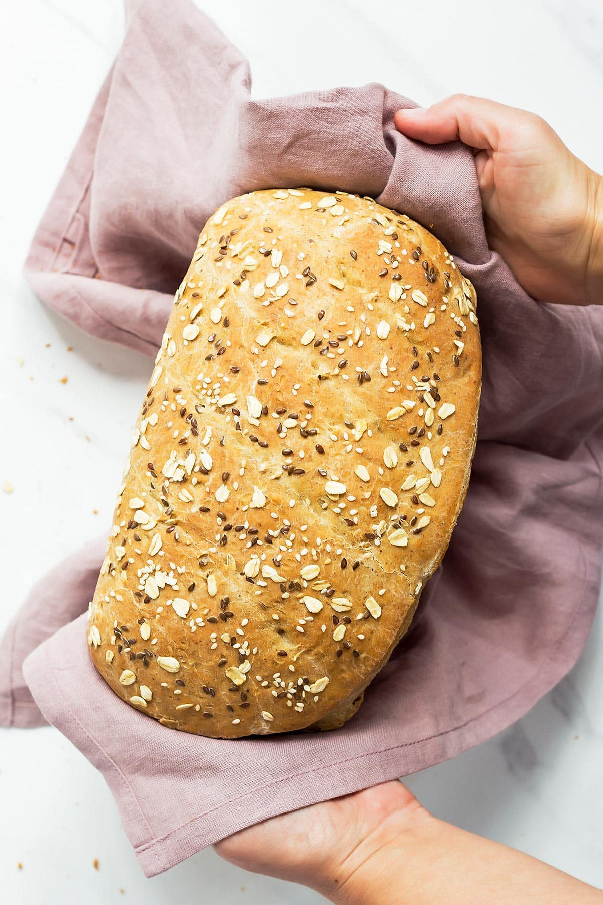 Holding sourdough sandwich bread