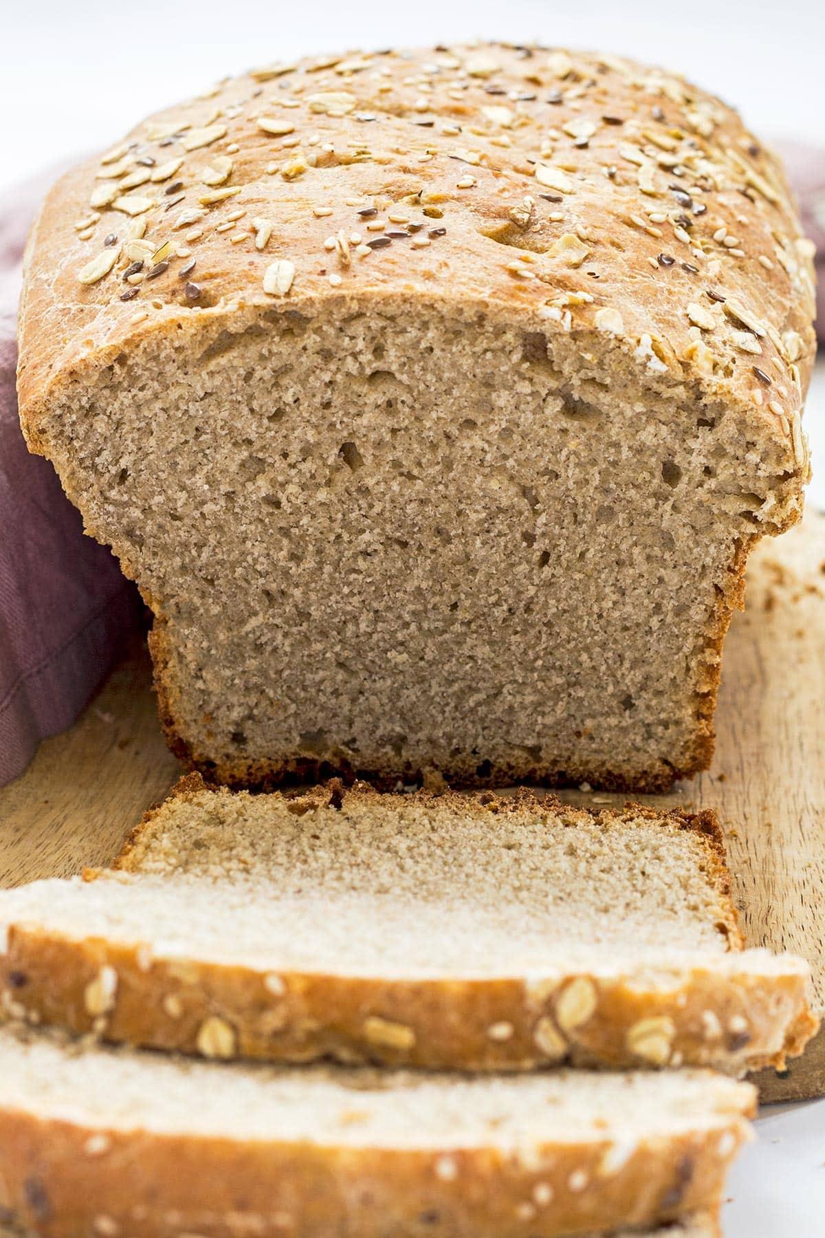 Sliced Sourdough Bread Loaf
