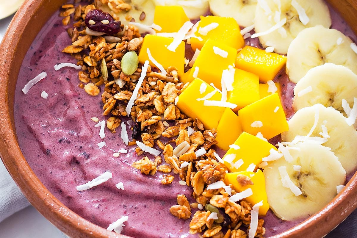 Closeup of Acai Breakfast Bowl
