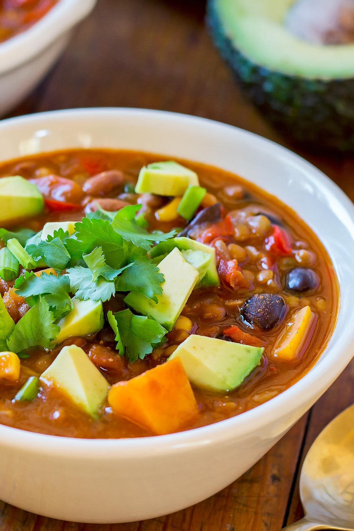 Lentil Chili in a bowl