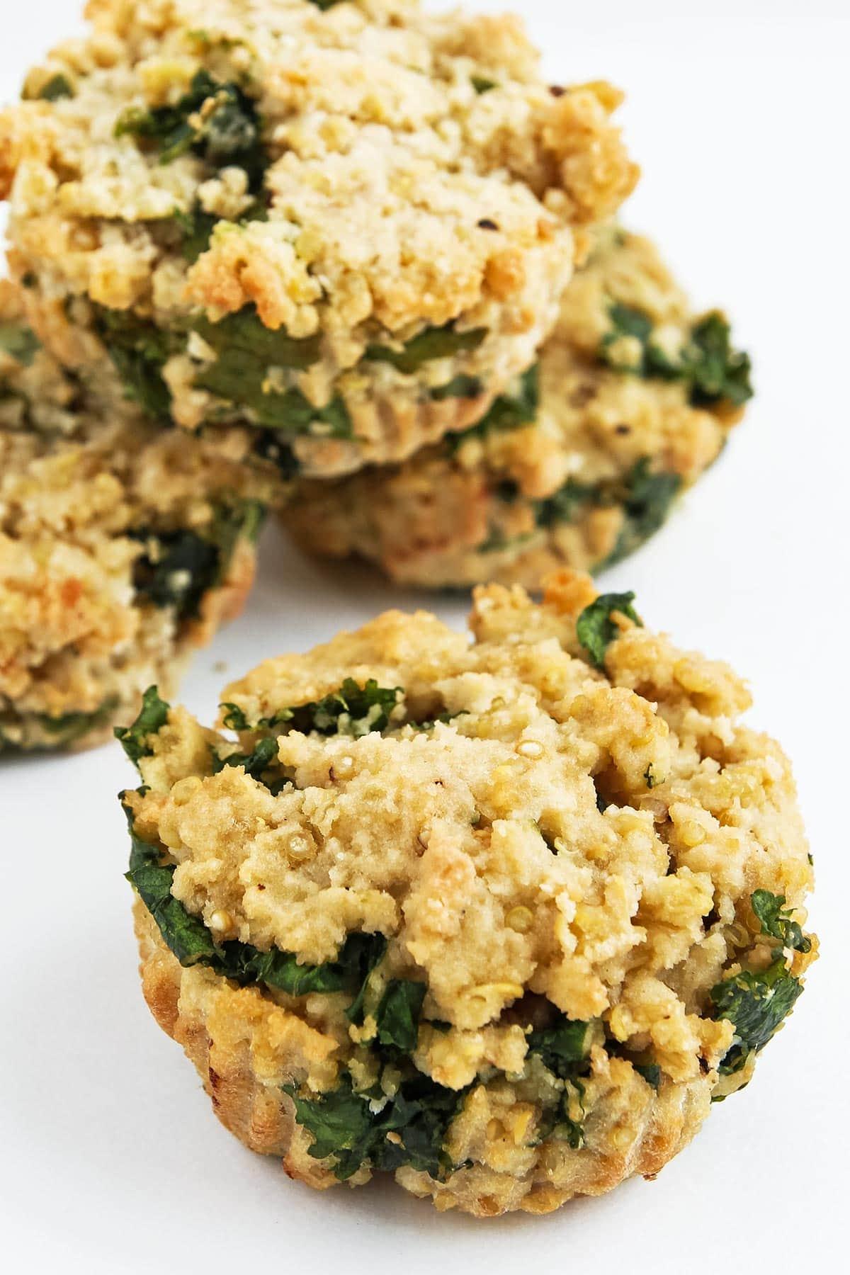 Coconut Flour Quinoa Kale Muffins