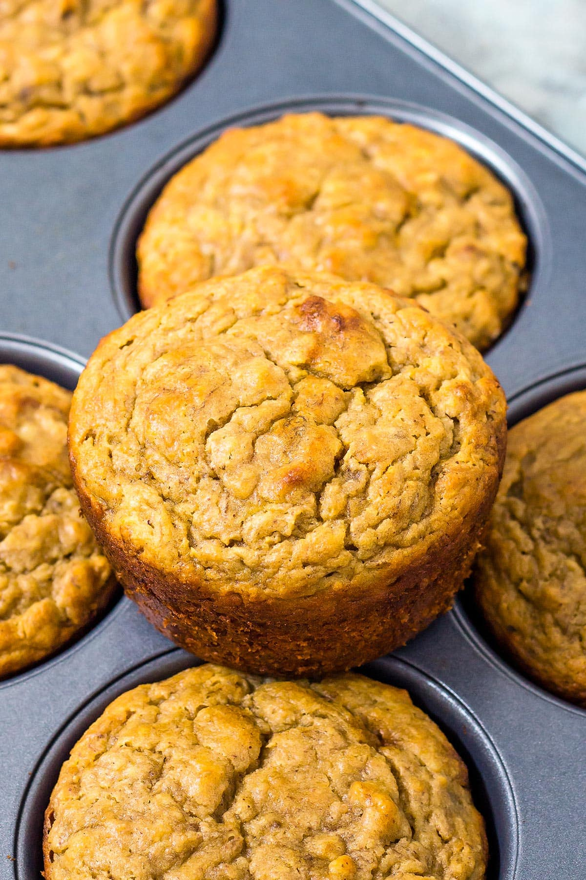 Healthy Banana and Peanut Butter Muffins