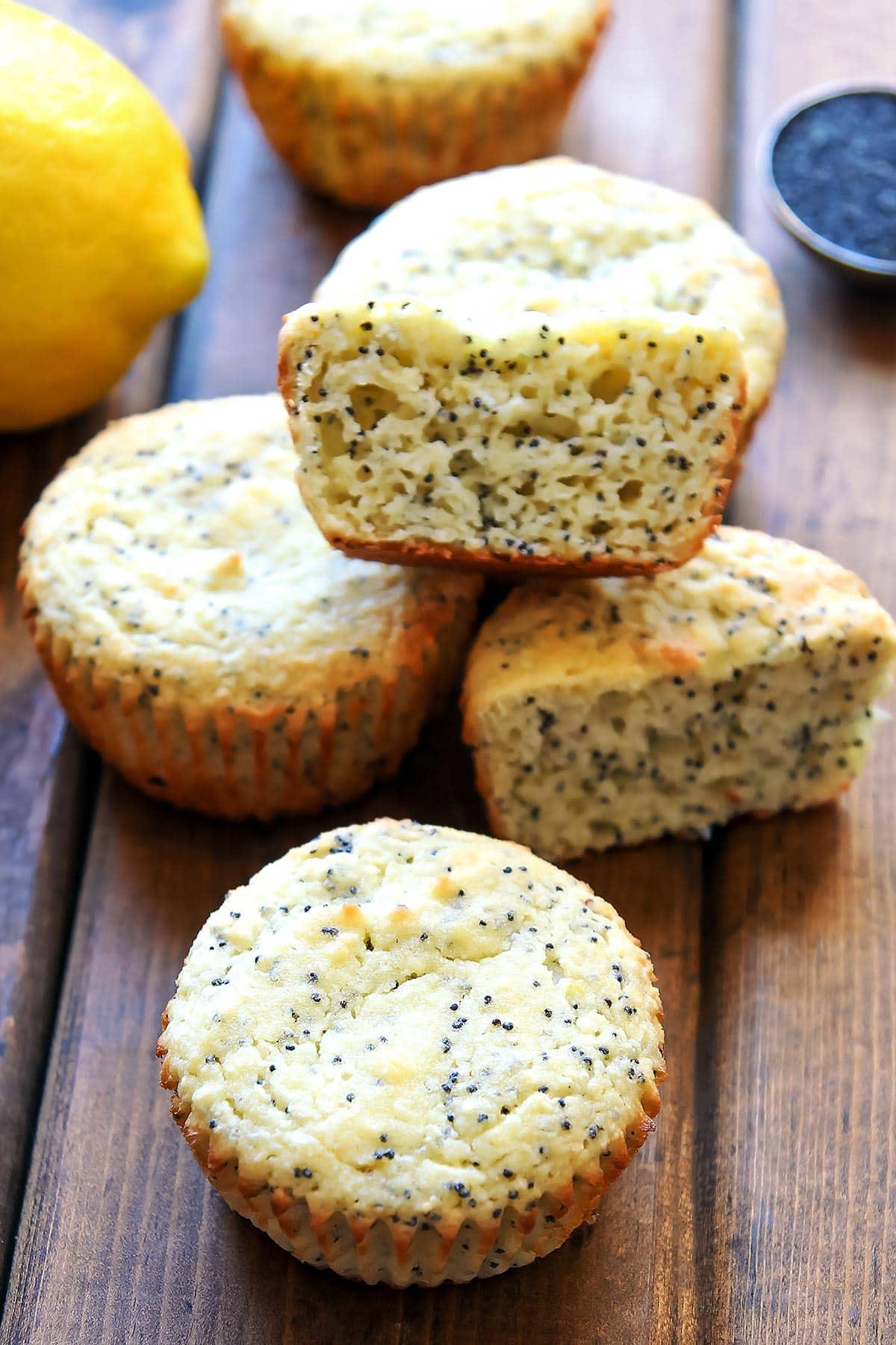 GF Lemon Poppy Seed Muffins