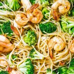 Teriyaki Noodle Shrimp Bowl