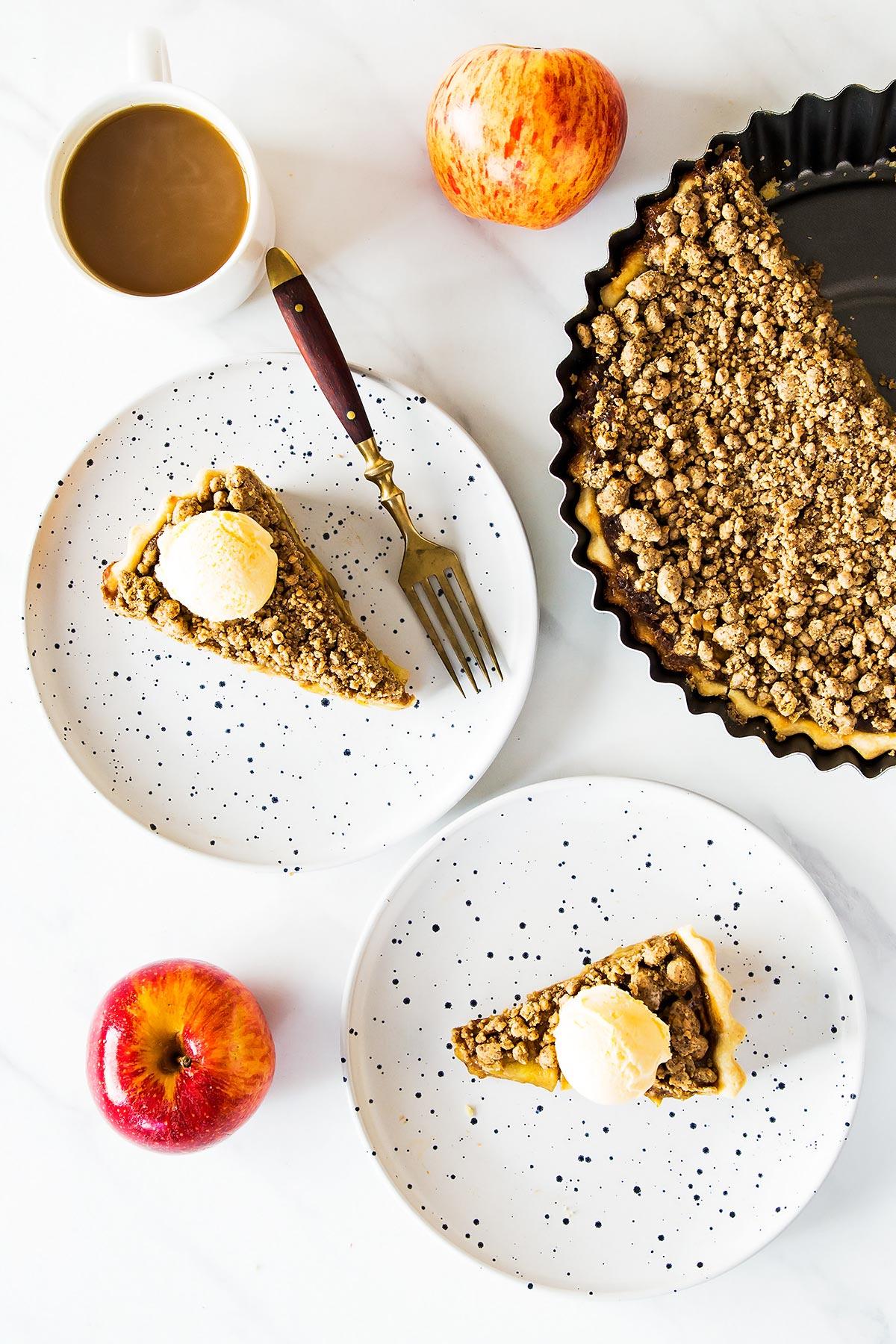 Peanut Butter Apple Slices on plates