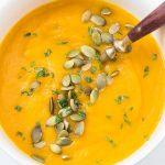 Instant Pot Carrot Butternut Squash Soup