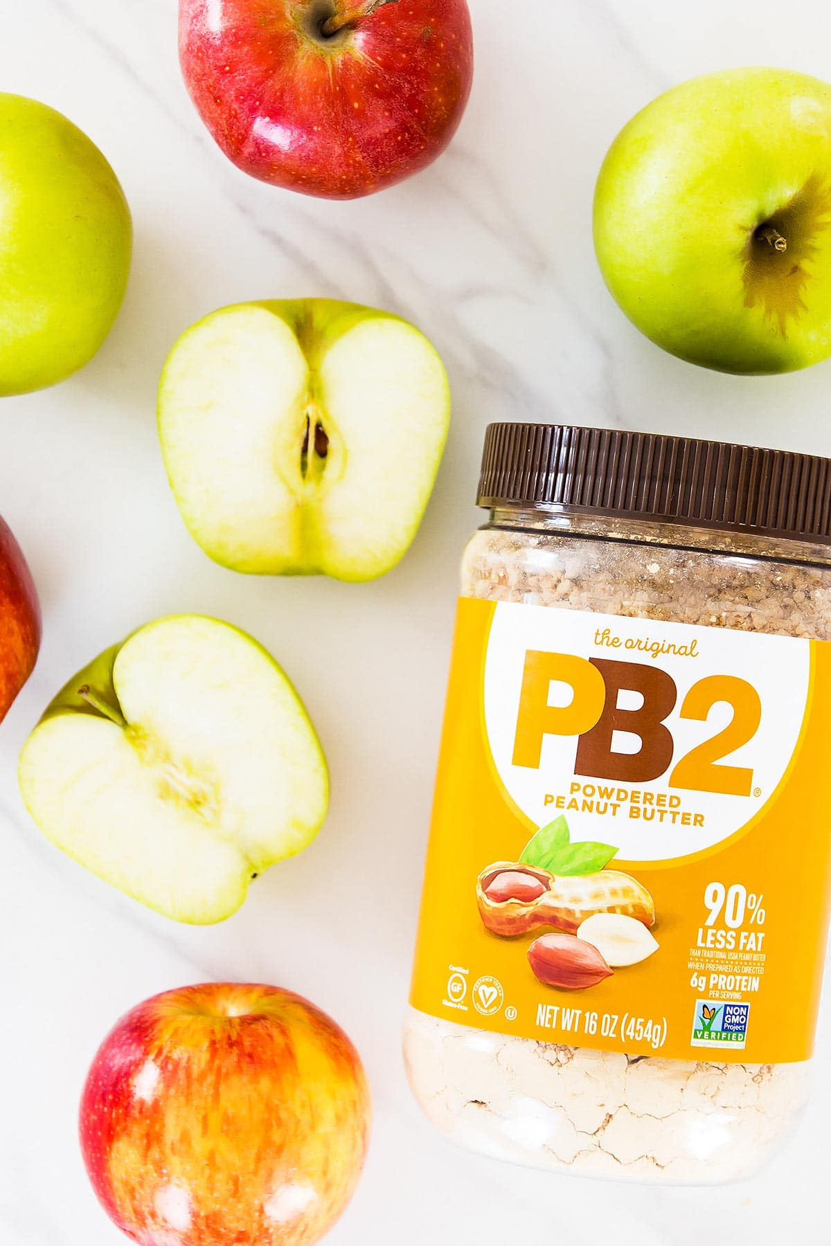 PB2 peanut butter powder and apples