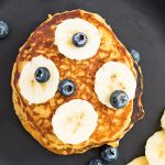 Sourdough Starter Pancakes with Bananas and Blueberries